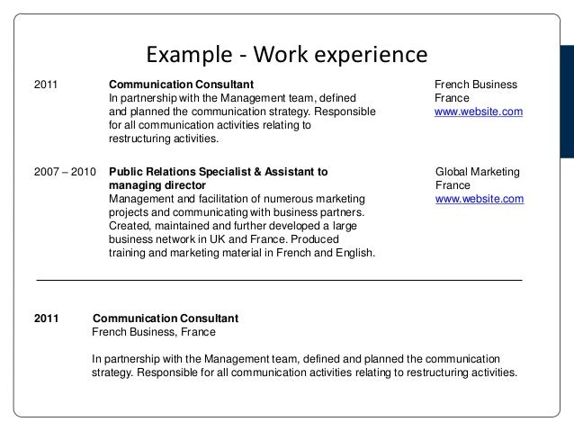 Foreign language knowledge resume
