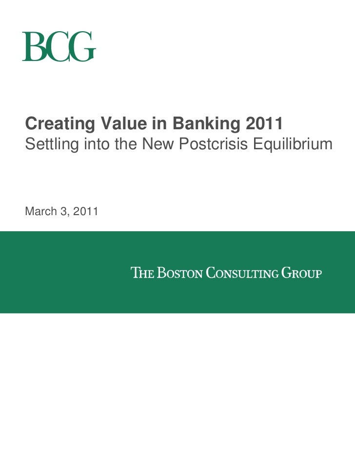 Creating Value in Banking 2011