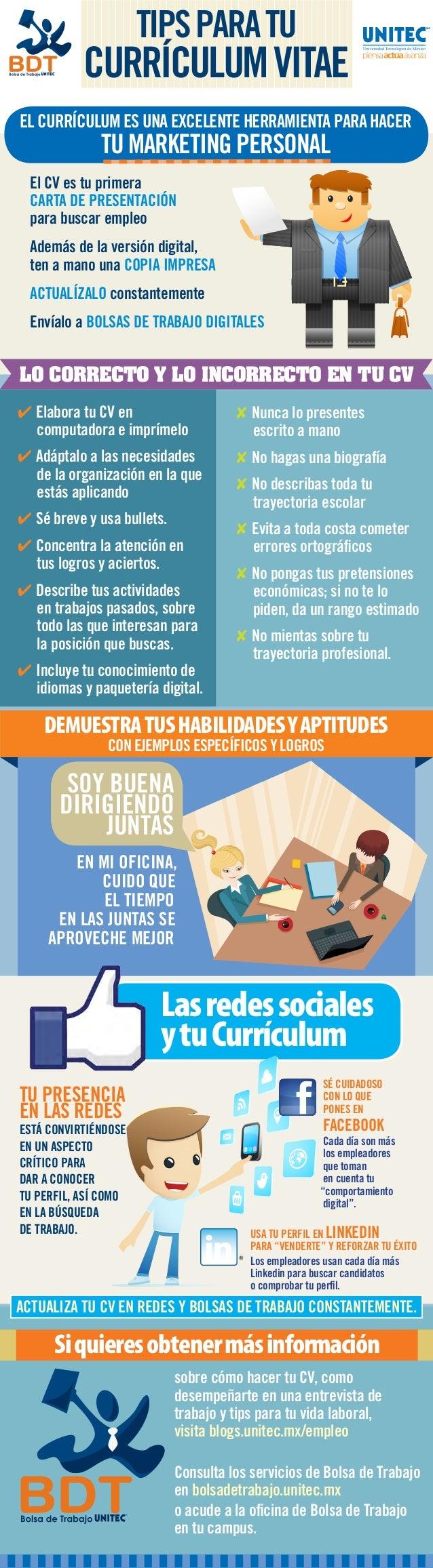 Curriculum Vitae: Como Elaborar Un Curriculum Vitae Por Primera Vez