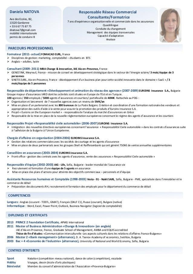 Exemple de CV formateur d'adultes