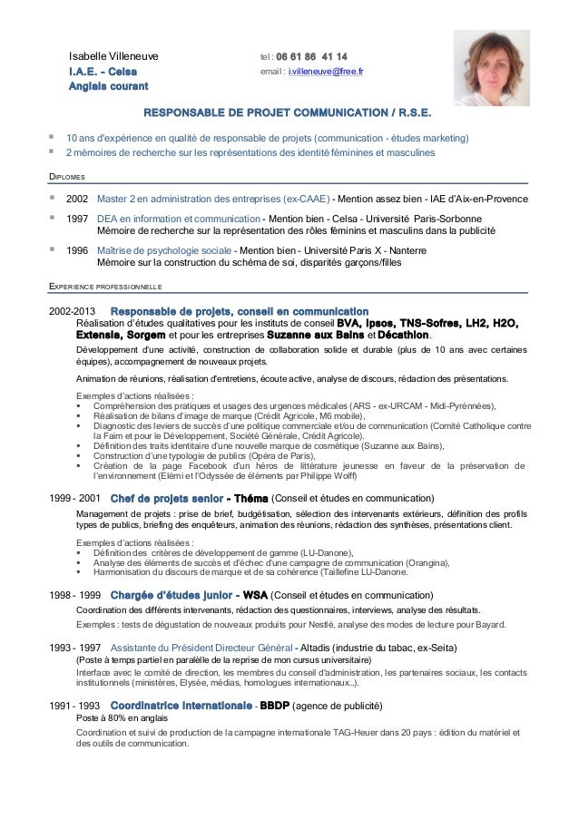 exemple cv responsable maintenance