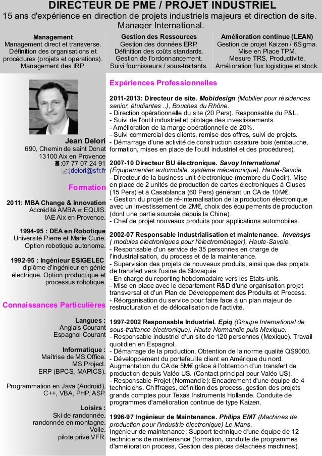 modele cv responsable technique