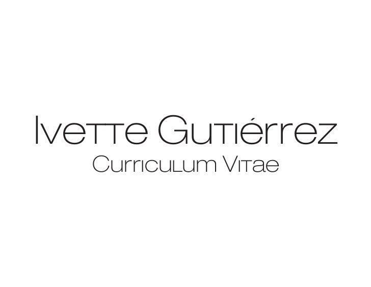 Ivette Gutiérrez   Curriculum Vitae