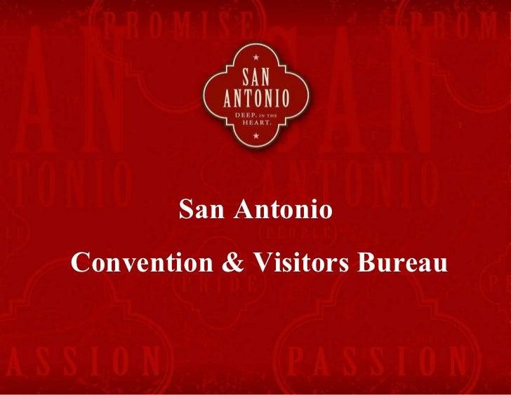 San Antonio  Convention & Visitors Bureau