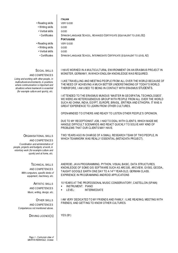 CV Sample With Language Skills MyperfectCV  Language On Resume