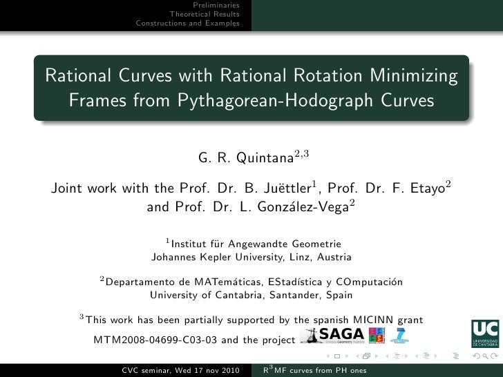 Preliminaries                          Theoretical Results                  Constructions and ExamplesRational Curves with...