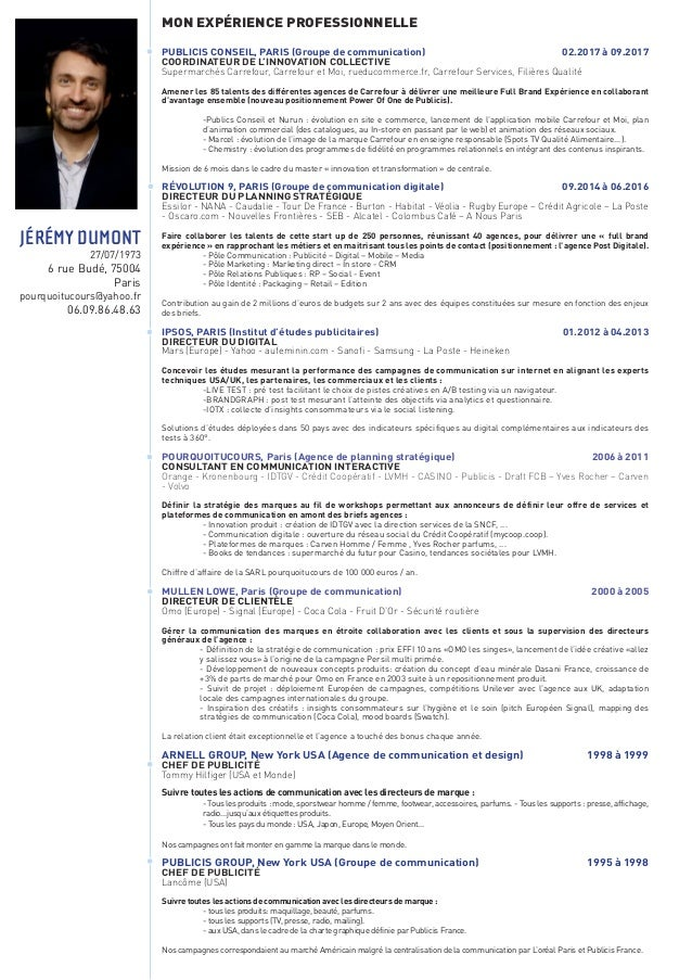 MON EXPÉRIENCE PROFESSIONNELLE RÉVOLUTION 9, PARIS (Groupe de communication et marketing digital) 09.2014 à aujourd'hui DI...