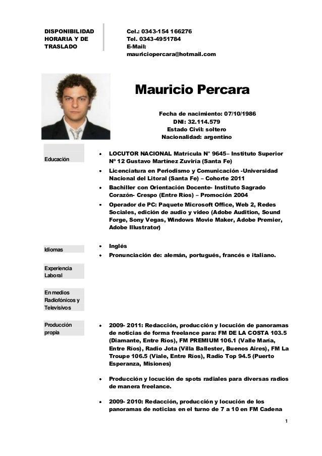 Perfecto Formato De Currículum De Actor Más Fresco Cresta ...