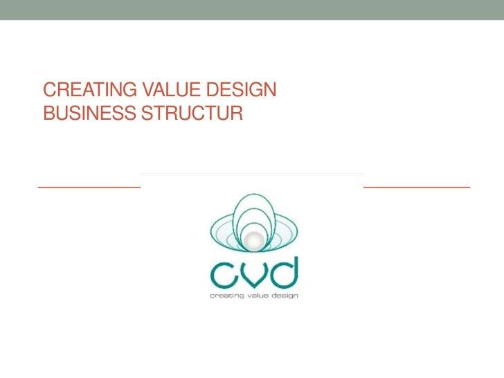 CREATING VALUE DESIGNBUSINESS STRUCTUR
