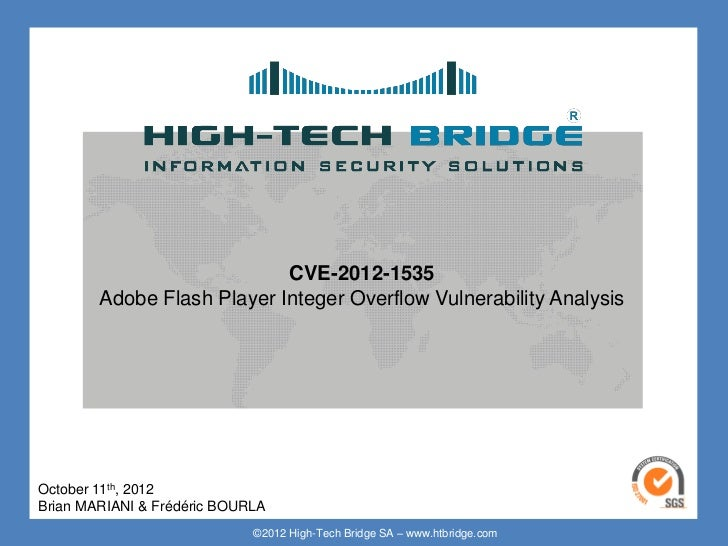 Your texte here ….                          CVE-2012-1535      Adobe Flash Player Integer Overflow Vulnerability AnalysisO...