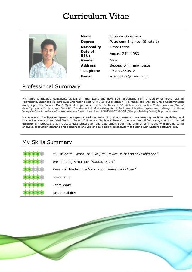 CV FORMAT - Letters & Maps