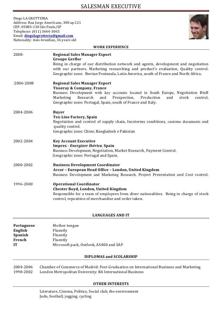 resume format  presentation cv in english