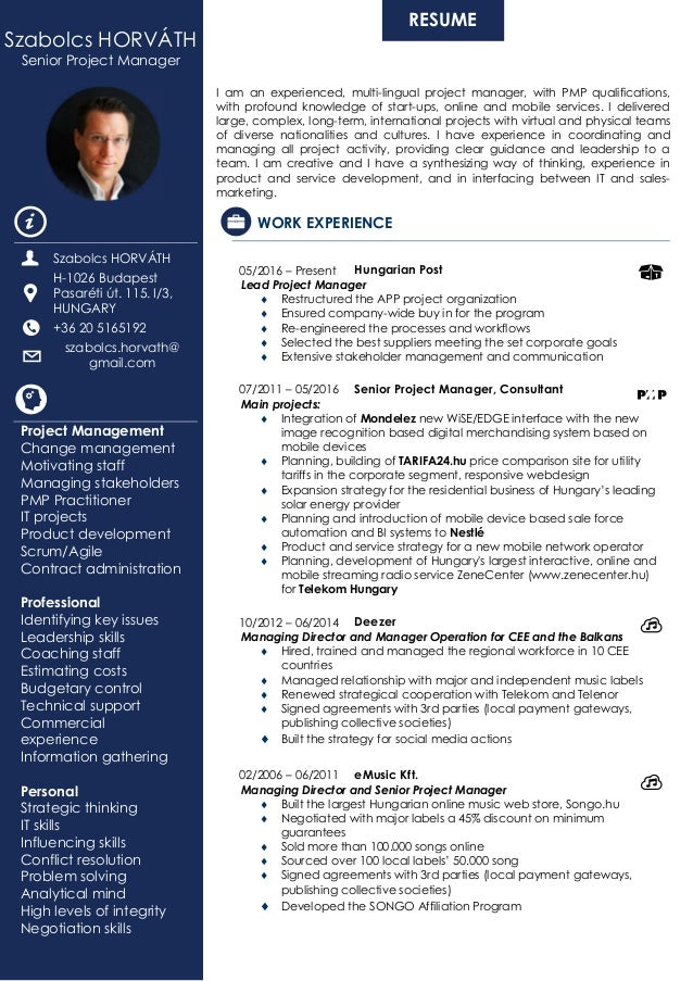 Management skills examples for resume
