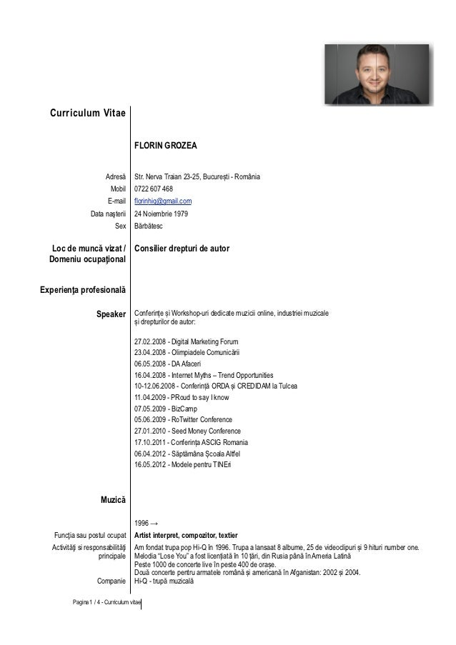 Curriculum vitae europass romana completat professional paper curriculum vitae europass romana completat yelopaper Images