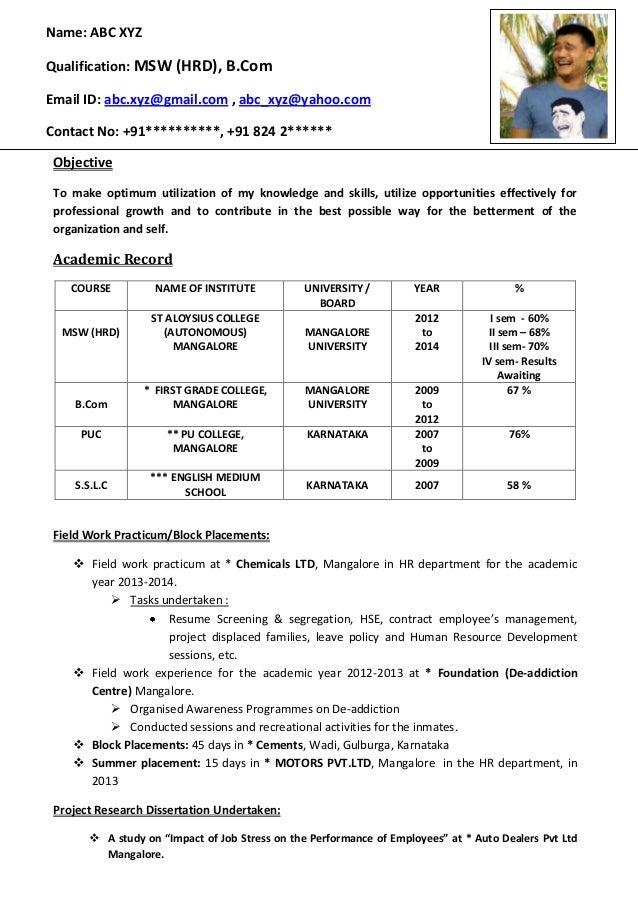 Delicieux CV FORMAT