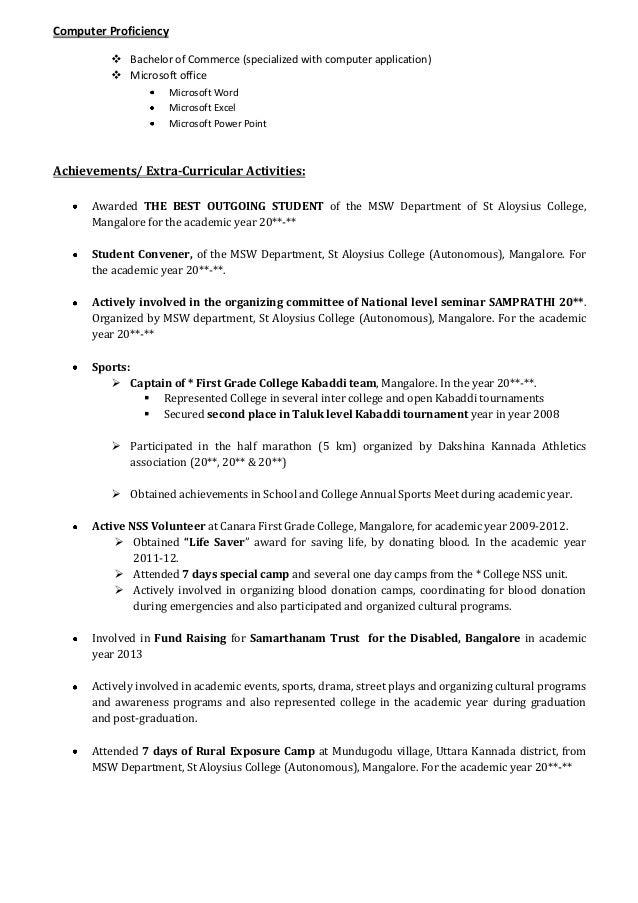 BBA Resume Sample Career Pinterest Resume