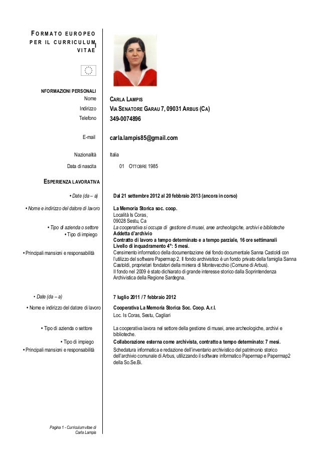 Cv Formato Europeo Carla Per Biblioteca. Curriculum Vitae Francais Europeen. Resume Of A Science Teacher In India. Letterhead Design For Import Export. Curriculum Vitae In Spanish. Resume Sample In Spanish. Resume Builder Linkedin Free. Letter Of Intent Sample Proposal. Cover Letter Nursing Clinical Instructor