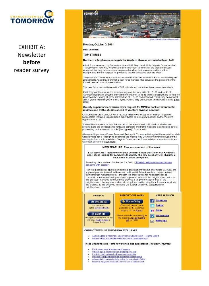 EXHIBIT A: Newsletter    beforereader survey