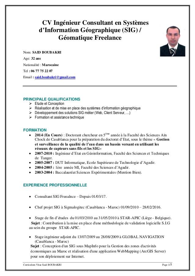 Cv Writing Format Bd
