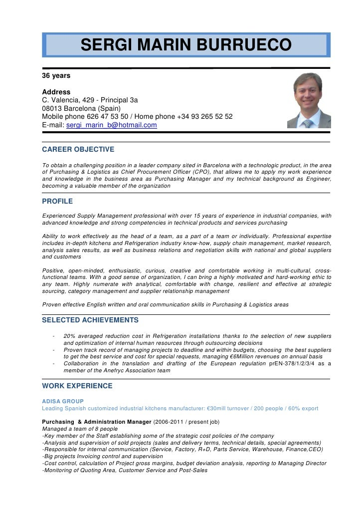 English Cv Sergi Marin