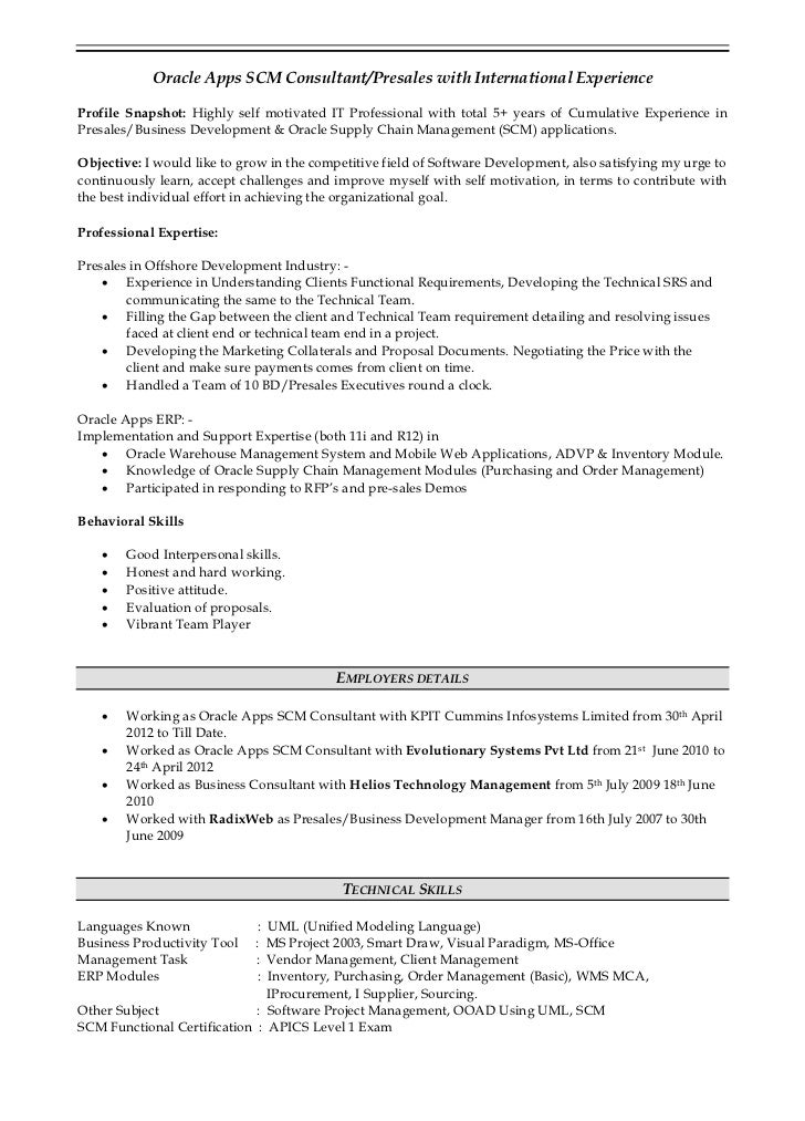 oracle erp project manager resume akash verma resume