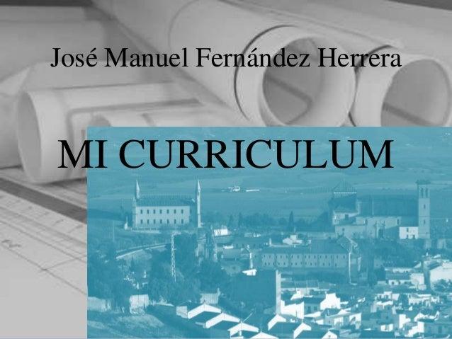José Manuel Fernández HerreraMI CURRICULUM