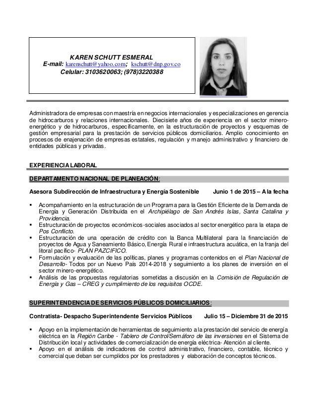 Administradora de empresas conmaestría en negocios internacionales y especializaciones en gerencia de hidrocarburos y rela...