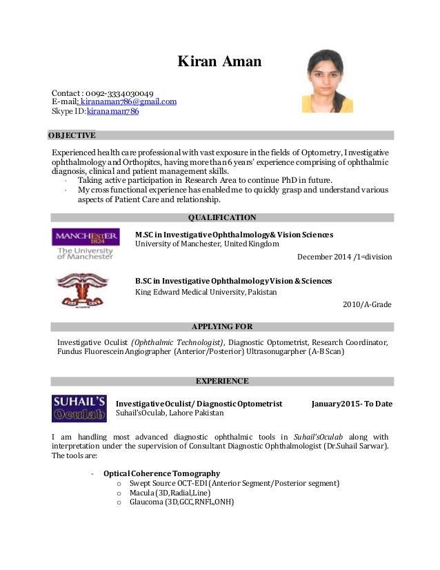 Cv Kiran Aman Masters In Investigative Ophthalmology