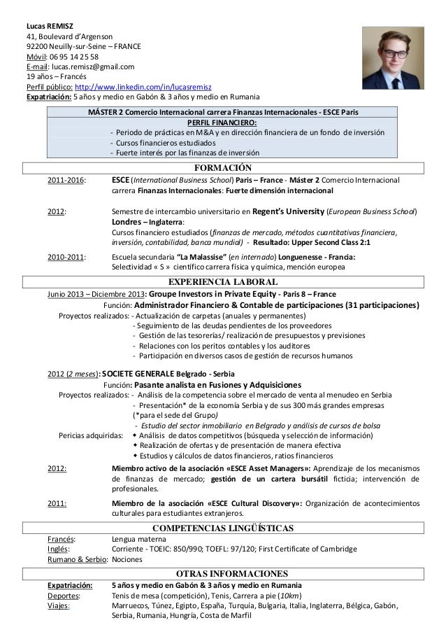 CV Lucas Remisz (Esp)