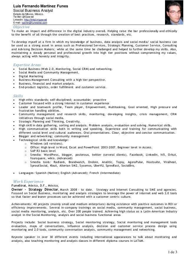 Luis Fernando Martínez Funes Social Business Analyst Estado de México, México. Tw itter: @Gaw ed Linkedin: http://linkd.in...