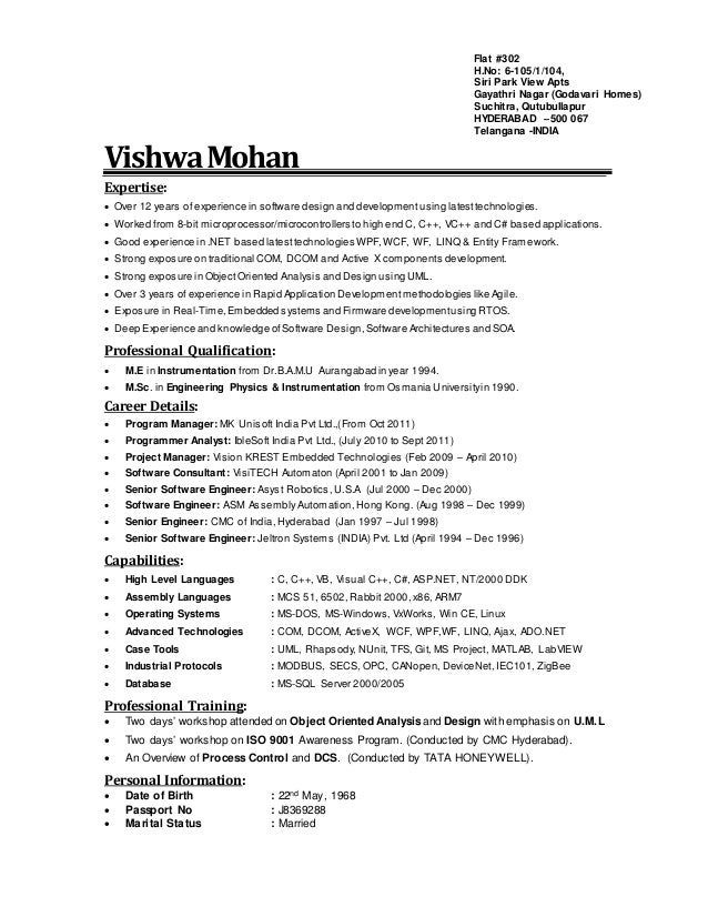 Vishwa Mohan Expertise: Over 10 years of experience in software design and development using latest technologies. Worked f...