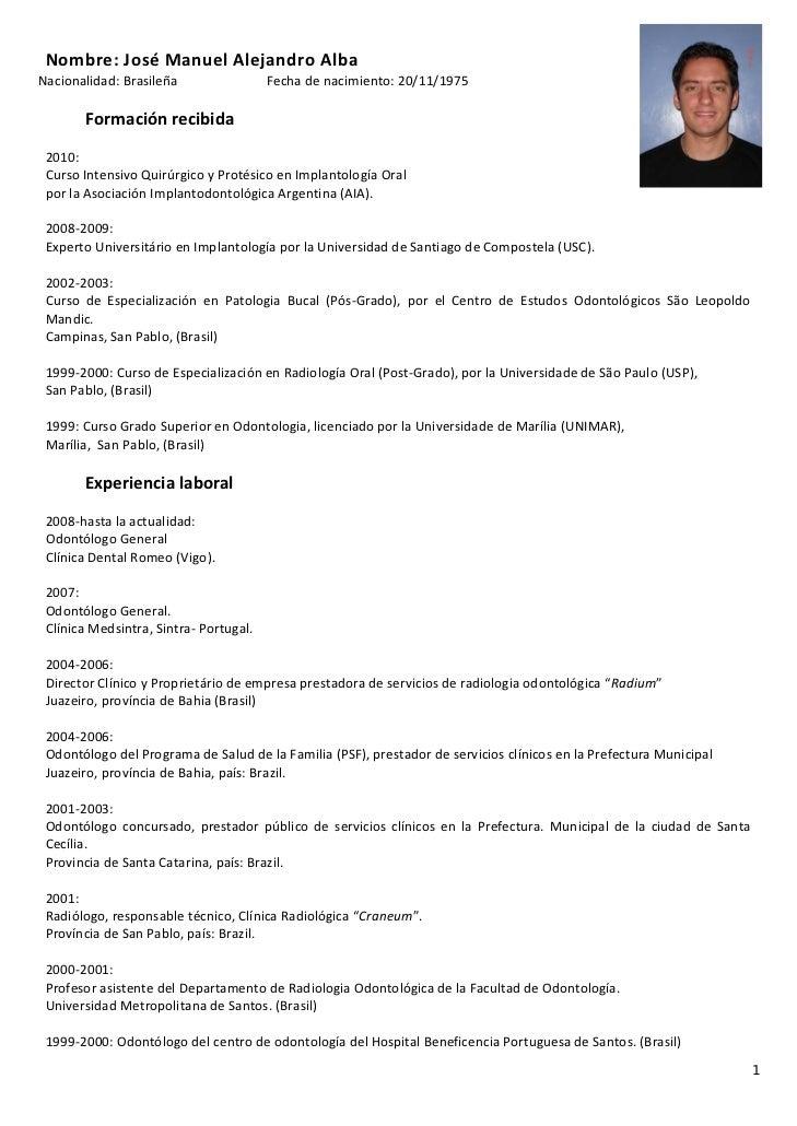 Curriculum Vitae Tecnico Radiologia