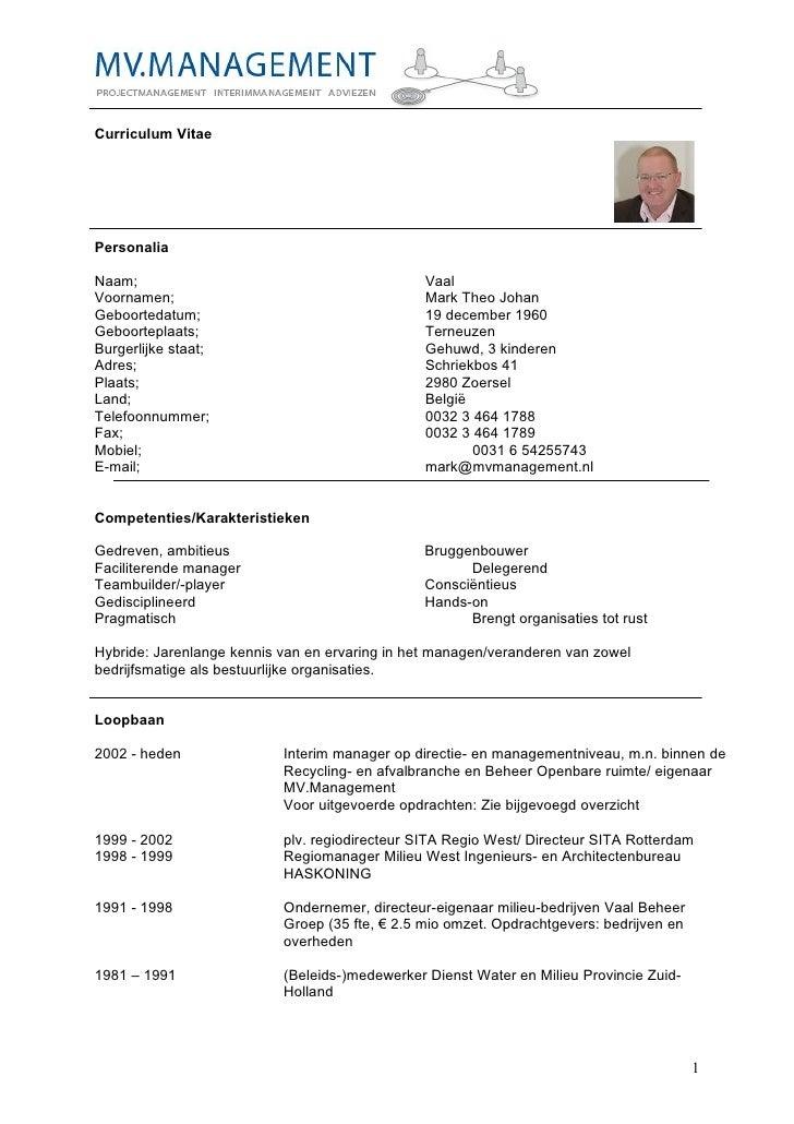Cv Mark Vaal Q1 2010