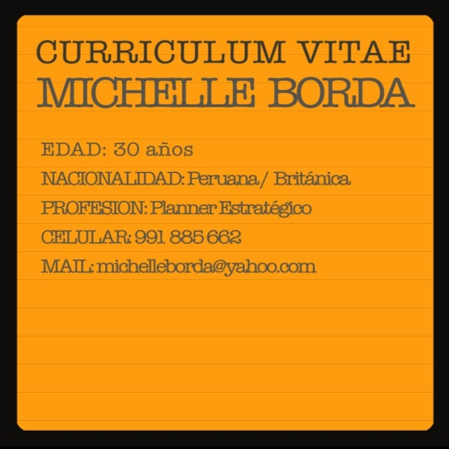 CURRICULUM VITAE MICI-IEILE BORDA  EDAD:  50 años