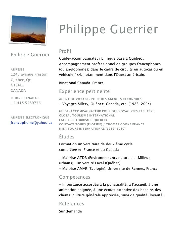 Cv Philippe Guerrier Guide2011