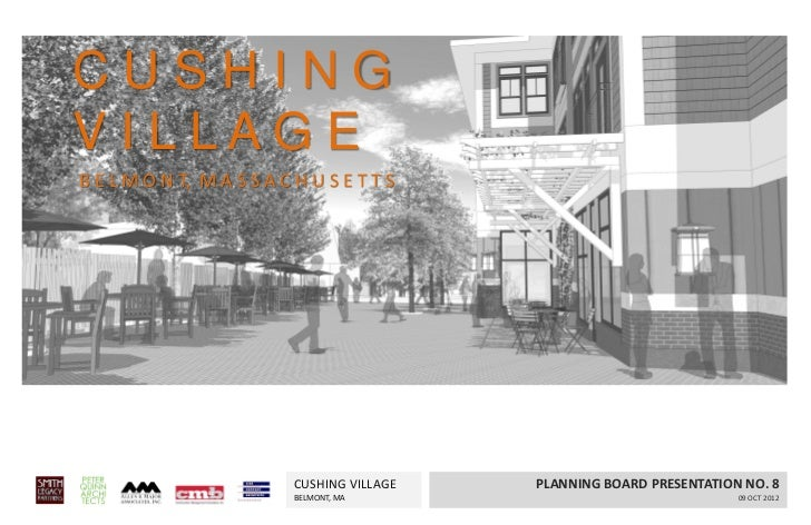 Planning Board Hearing, Cushing Village, Belmont, MA - Oct. 9, 2012