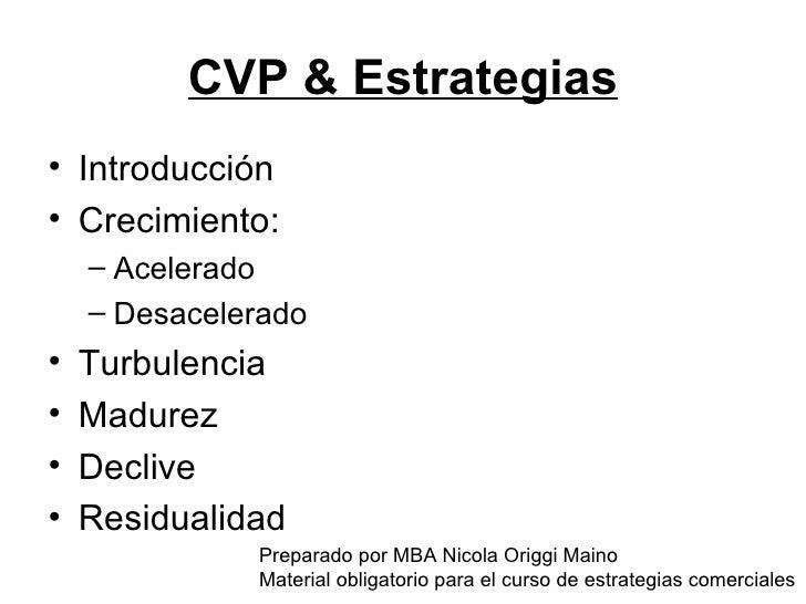 CVP & Estrategias <ul><li>Introducción </li></ul><ul><li>Crecimiento: </li></ul><ul><ul><li>Acelerado </li></ul></ul><ul><...