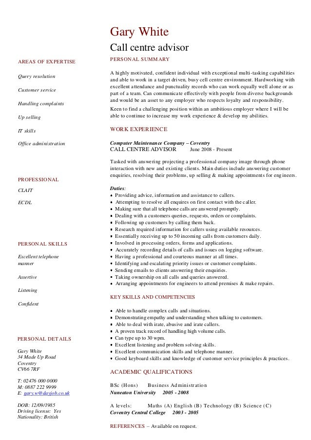 How to Write a Summary of Qualifications   Resume Companion functional resume format