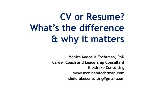 Cv and resume whats the difference