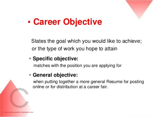 Career Objective For Resume ~ Inspirenow