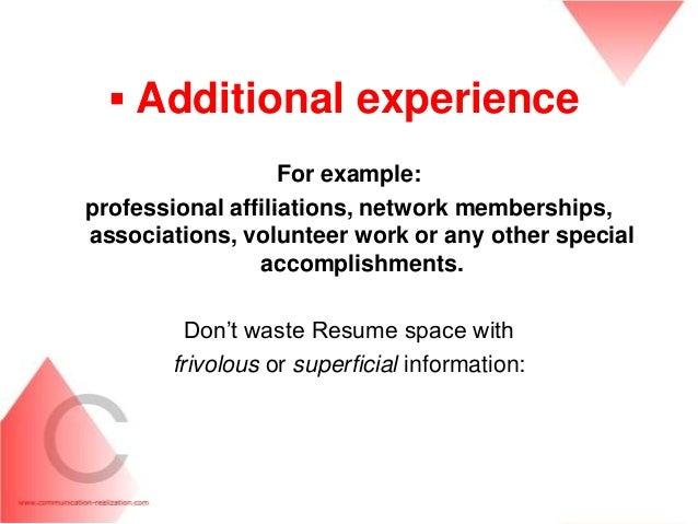 CV / Resume writing / Career development