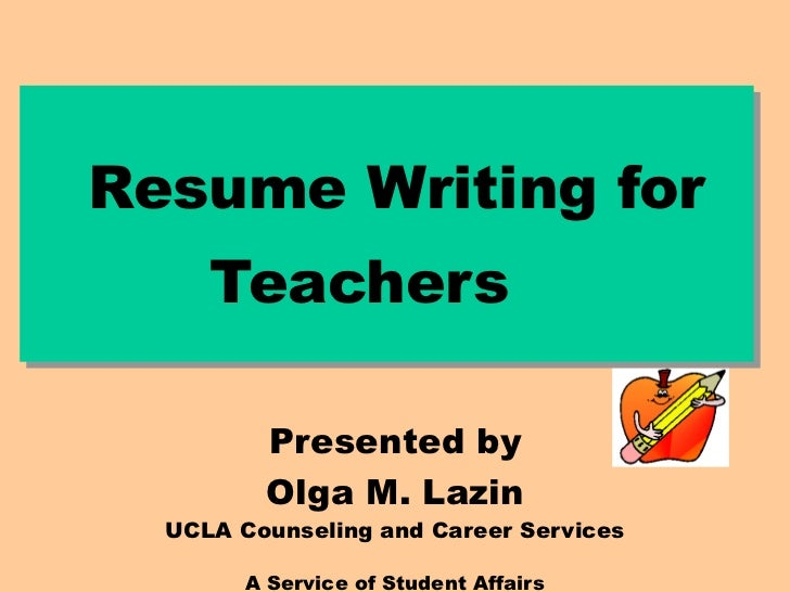 resume writing For lecturer