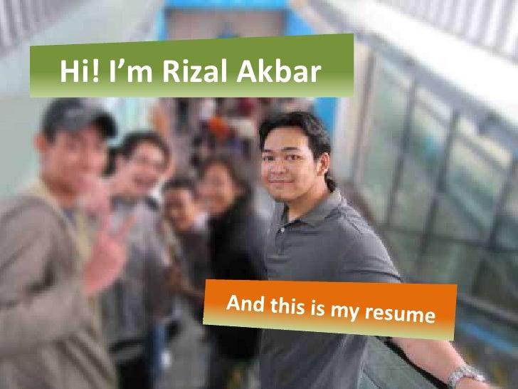Rizal Akbar - Visual Resume