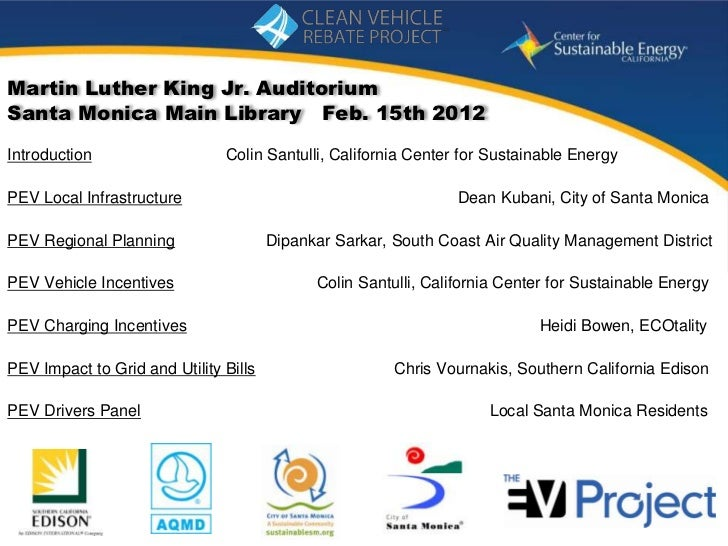 Martin Luther King Jr. AuditoriumSanta Monica Main Library Feb. 15th 2012Introduction                   Colin Santulli, Ca...