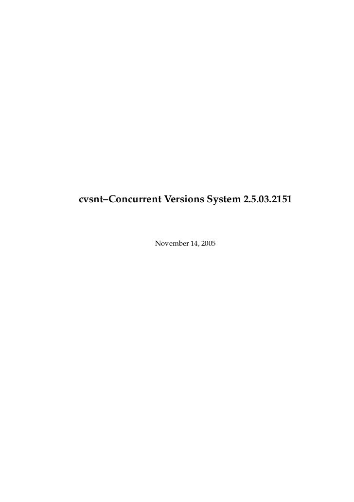 cvsnt–Concurrent Versions System 2.5.03.2151               November 14, 2005