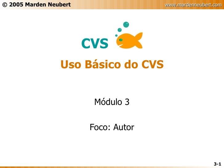 CVS - Slides Parte 3 - Básico