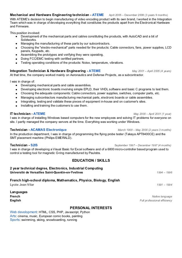 psu engineering sample resume   format resume word
