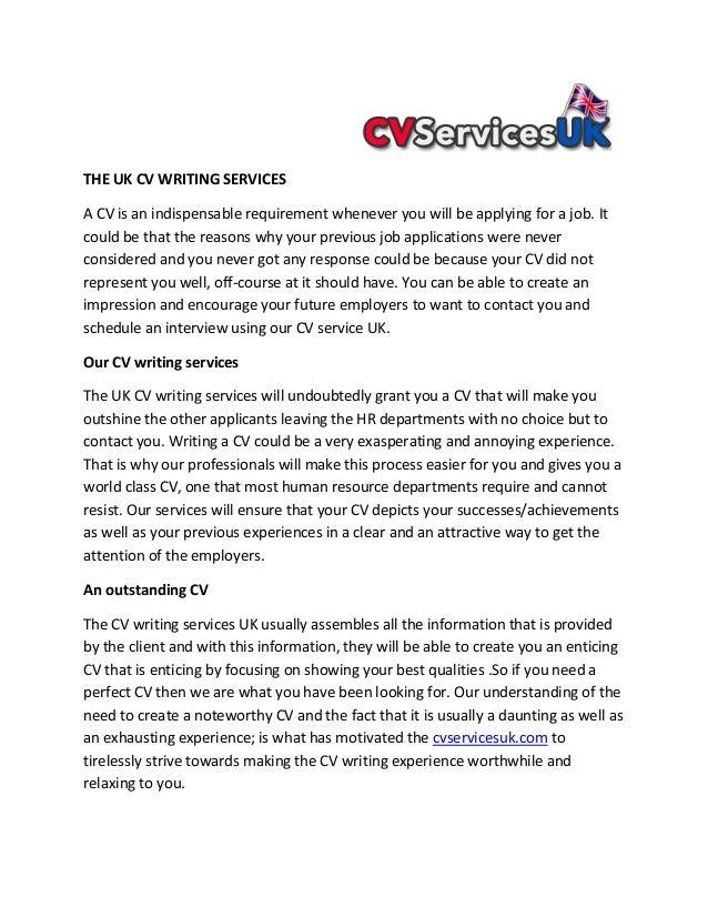 Cv services uk