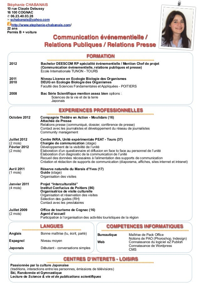 exemple de cv attache de presse