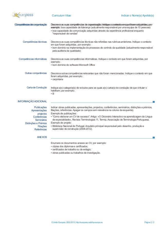 curriculum vitae exemplos - Modelo De Resume